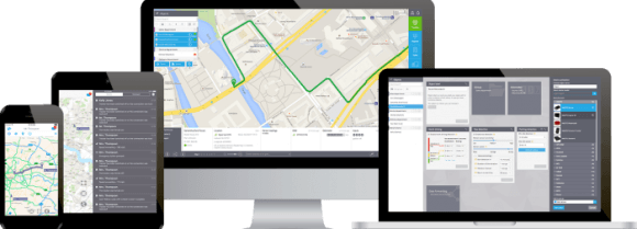 Web-based GPS tracking software - Interface