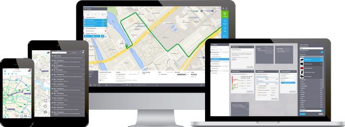 Web-based GPS tracking software - Interface