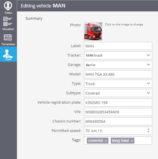 vehicle editing tags