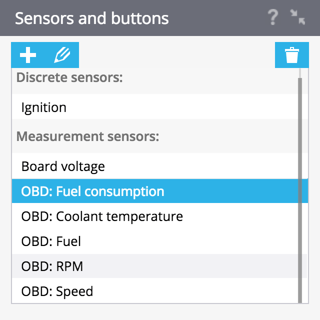 Vehicle sensors