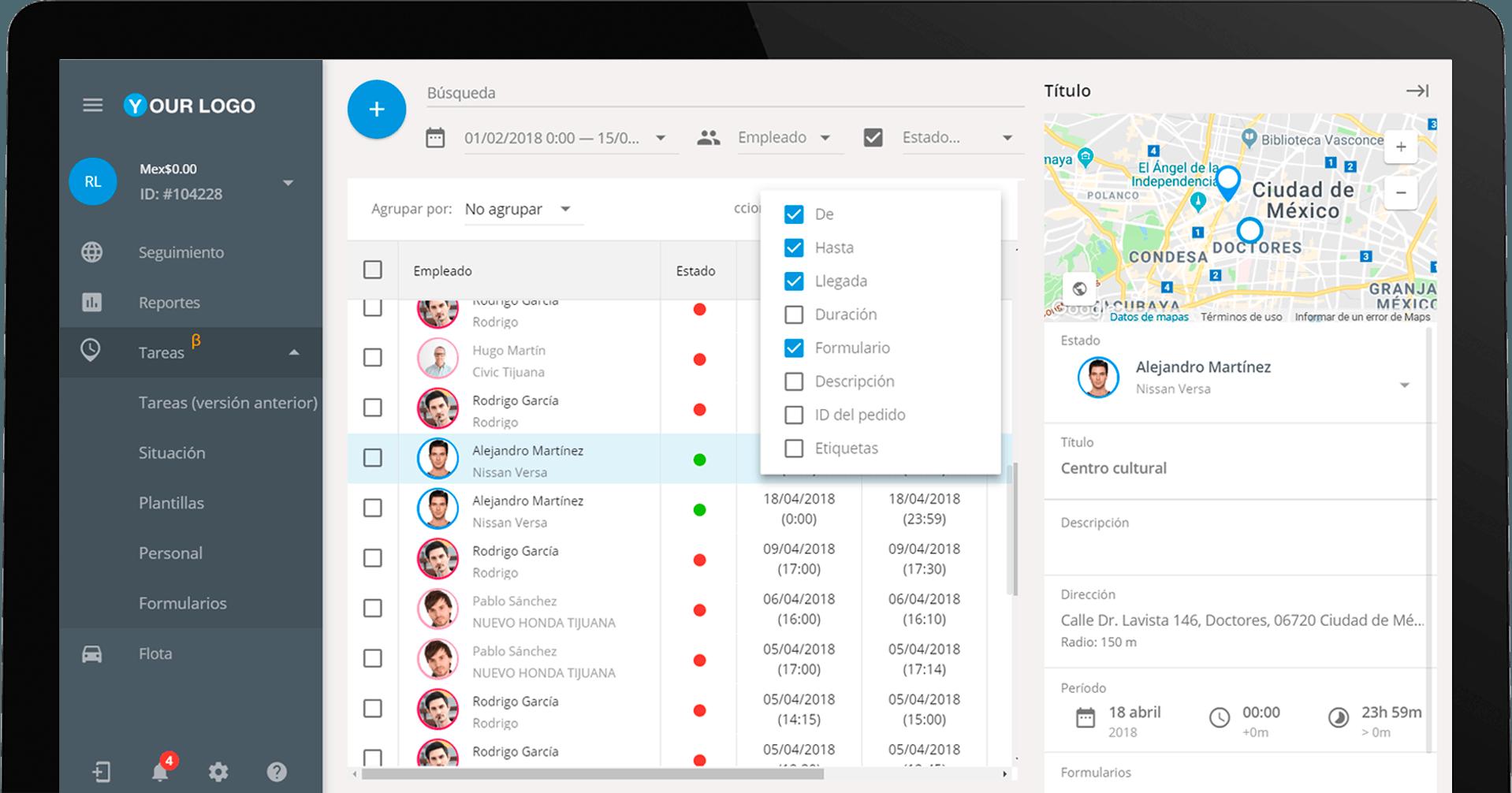 Tareas 2.0: disfruten de una interfaz más amigable para el monitoreo de empleados móviles