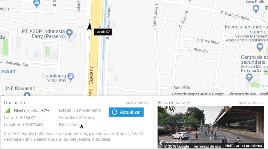 Actualización de ubicación a petición