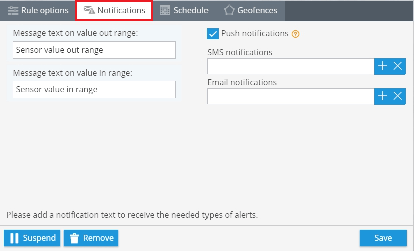 Notifications-setup