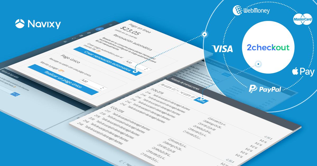 Navixy integra 2Checkout: Automatice los procesos de pago para sus clientes