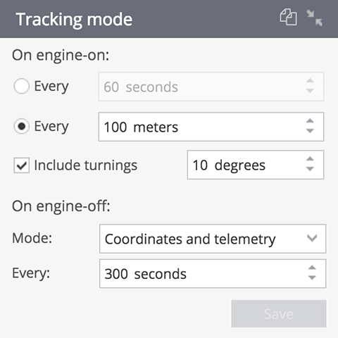 GPS tracking mode