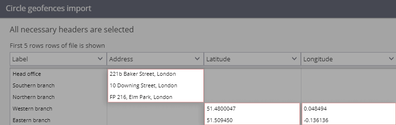 Upload Places and Geofences to the system with ease