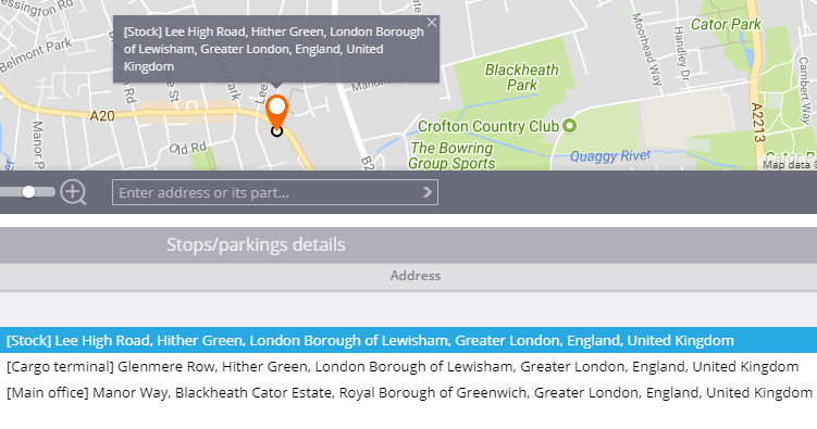 Geofence name in reports and notifications