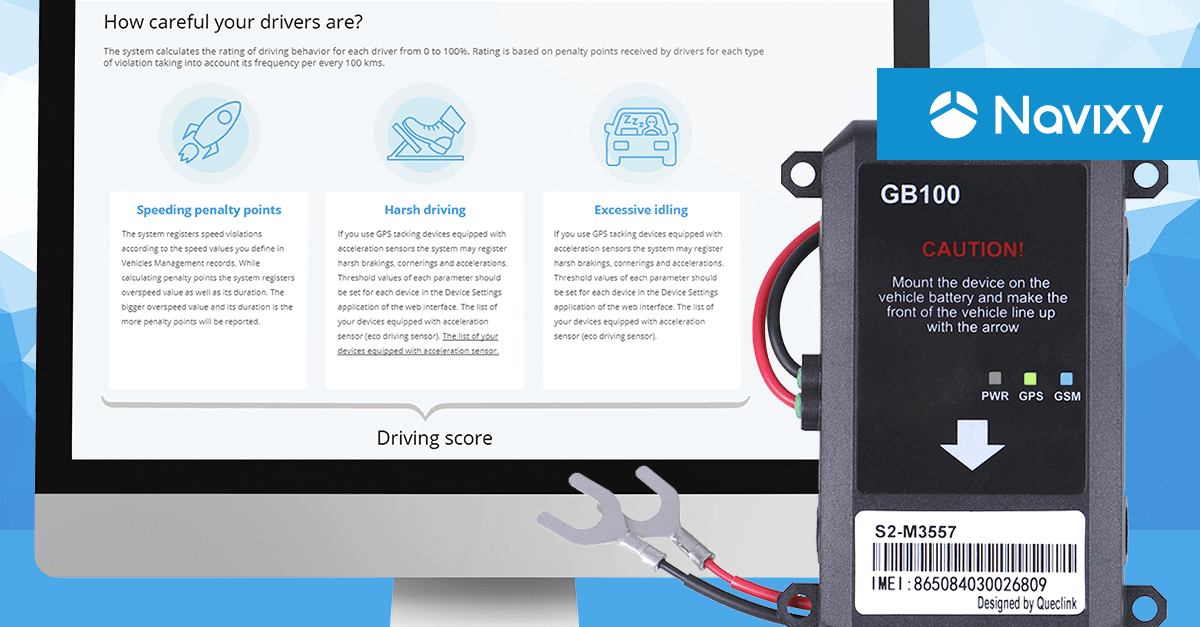 Queclink GB100 — a new GPS tracker for insurance telematics that reconstructs traffic accidents
