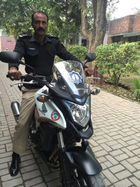 More than 500 police bikes and cars are equipped with these trackers in Lahore