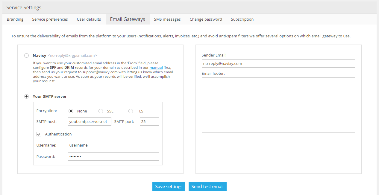 SMTP gateway