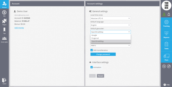Change the geocoder in the Account section in their User Interface
