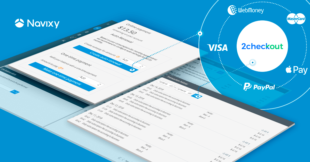 Navixy Integrates 2Checkout: Automate Payment Processes for Your Customers