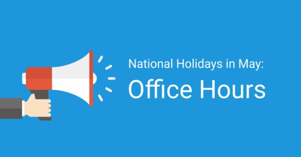 National holidays in May