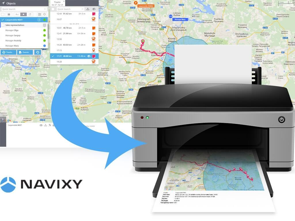"""Navixy New Function """"Print The Track"""""""