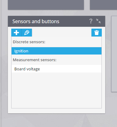 Sensors and buttons