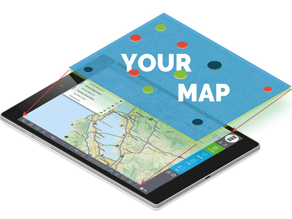 Adding extra maps to GPS tracking platform