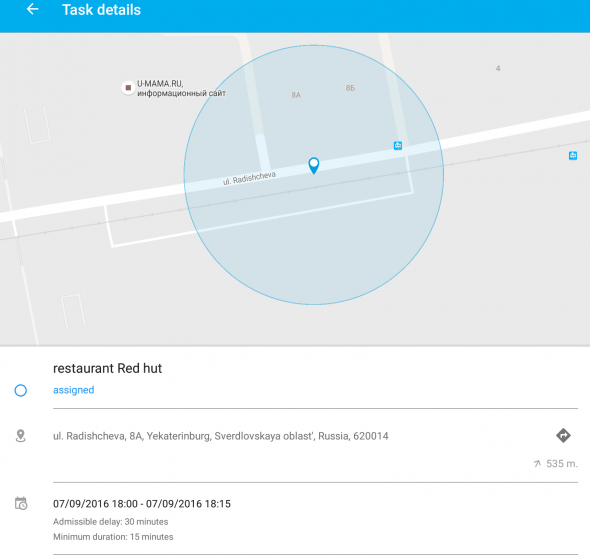 Assign tasks to X-GPS tracker Apps