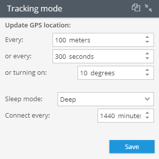 Tracking mode