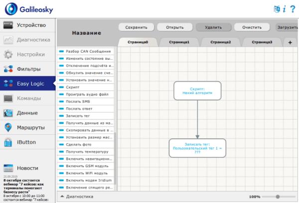 Передача данных в пользовательских тегах Galileosky