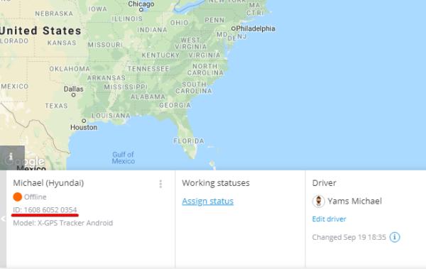 X-GPS Tracker Primeira inicialização