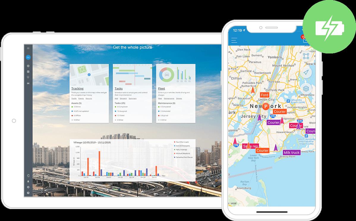 Software de gestión de servicios de campo Plataforma de rastreo GPS