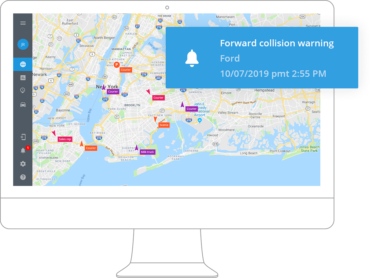 Спутниковый GPS-мониторинг транспорта для перевозок и логистики
