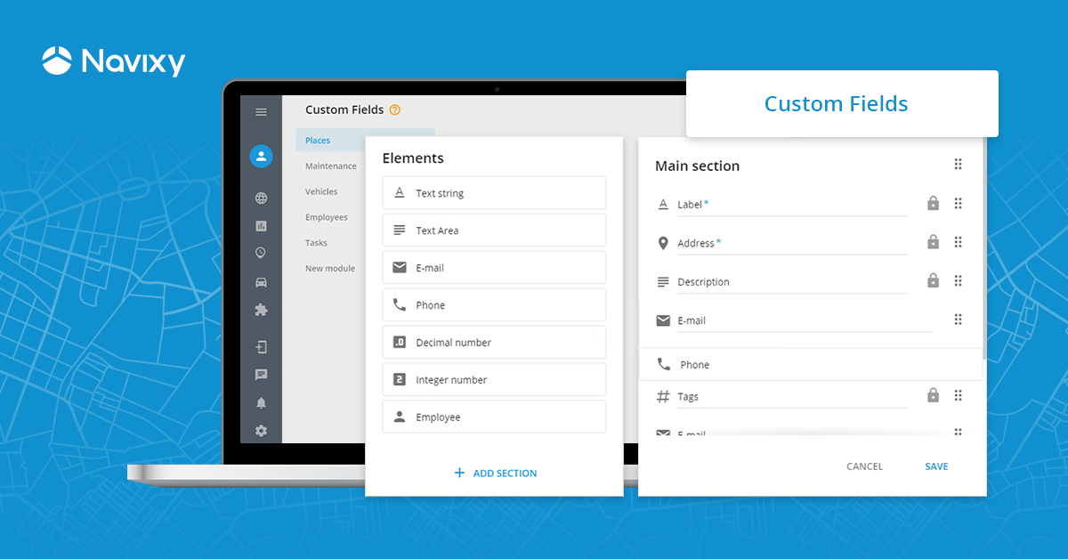 Custom fields to replicate CRM functionality and make any company feel at home