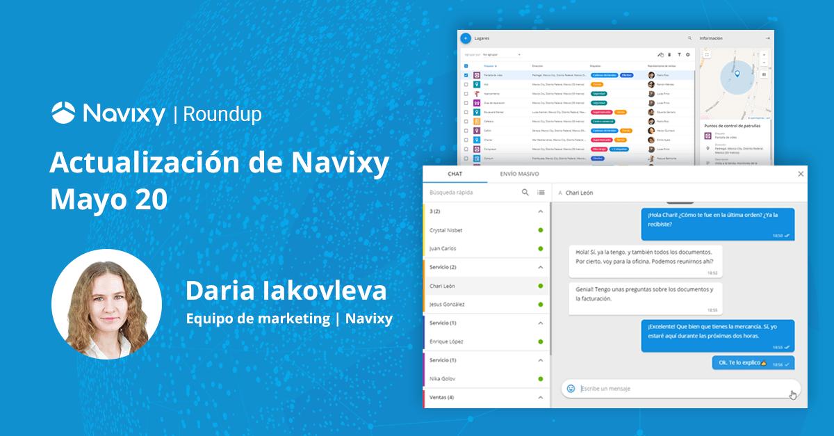 Actualización de Navixy. Mayo 2020