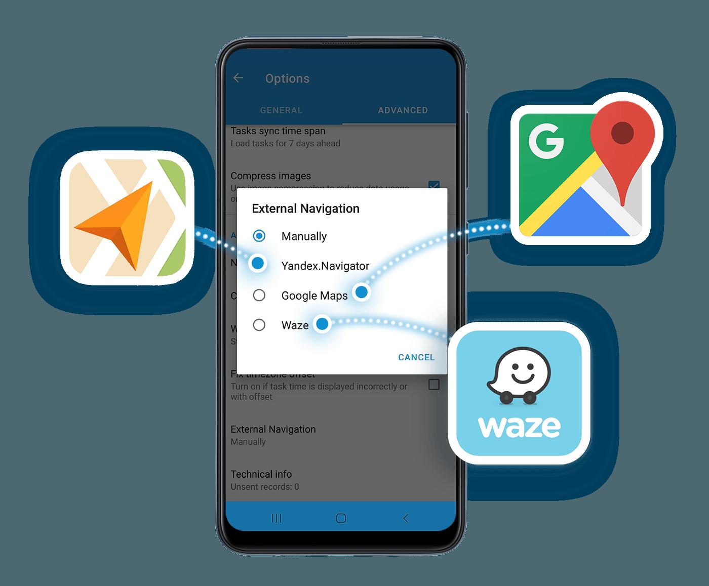 Navigation modes on Navixy
