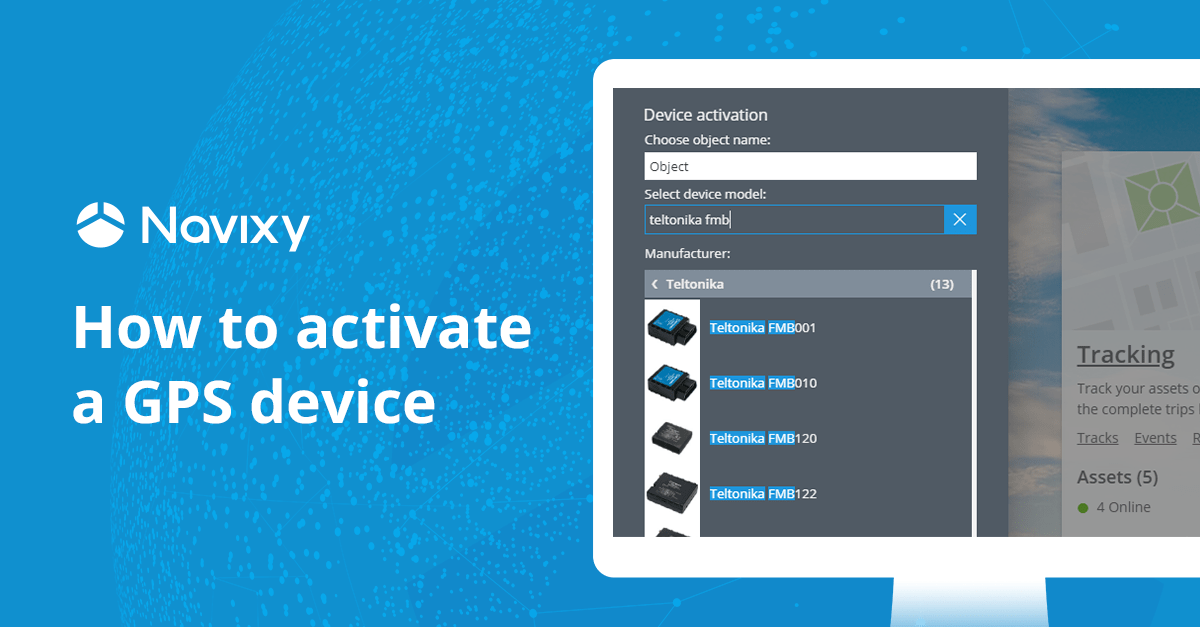 How to activate a GPS tracking device in 60 seconds