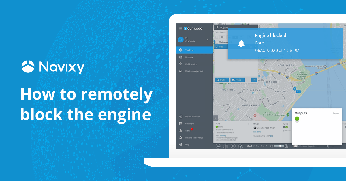 Engine block: prevent thefts and recover stolen vehicles