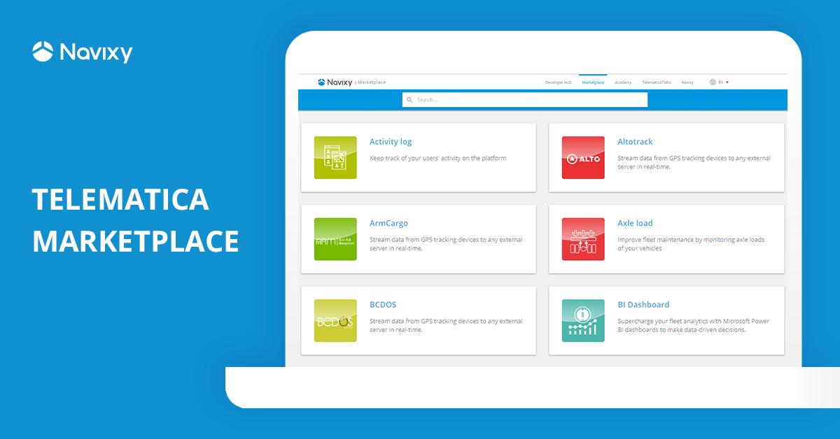 Telemática Marketplace: Cree, integre y distribuya su solución