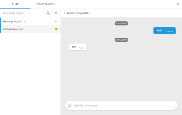 Función de chat Galileosky + Garmin