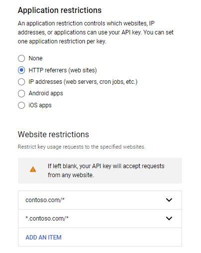 Создание Google API ключей