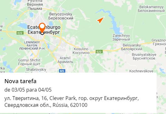 Entregador no mapa