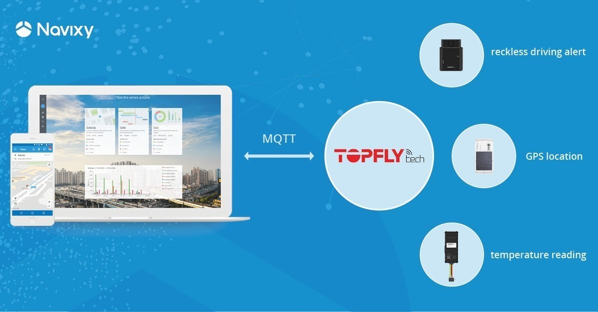 MQTT-driven solutions from Navixy and TOPFLYtech